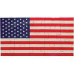 American Flag Shaped Jigsaw Puzzle