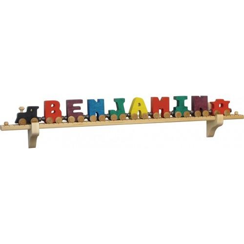 NameTrains Wall Mount 10 Cars, Track & Brackets Set
