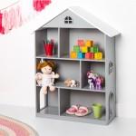 Dollhouse Bookcase-Gray