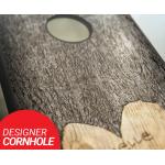 Customized Wedding Tree Carved Cornhole Set