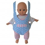 Doll Carrier/snuggly In Blue And Pink