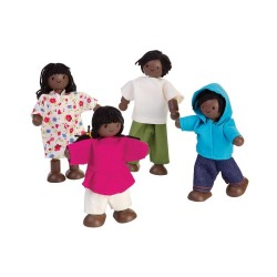 Plan Toys Dark Skinned Dollhouse Family