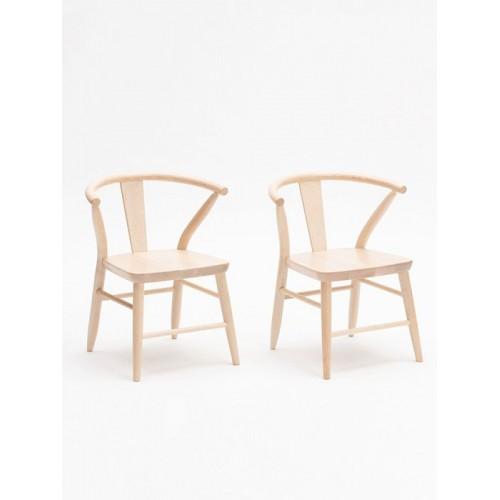 Crescent Chair, Pair - Natural