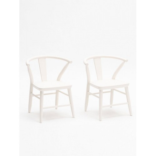 Crescent Chair, Pair - White