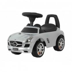 Benz Push Car Metallic Silver