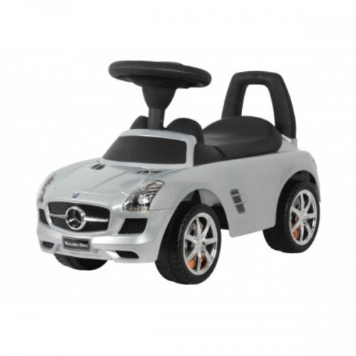 Benz Push Car Metallic Silver