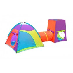 3 Piece Play Set One Dome Tent One Play Tunnel One Cube