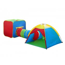 3 in 1 Play Tent Tunnel One Cube One Dome Tent & One Tunnel