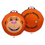 Pop Up 6 Feet long Orange Monkey Play Tunnel For Pets & Kids