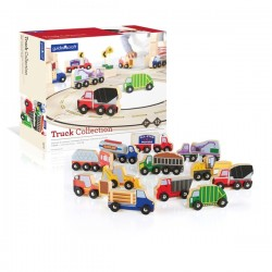 Wooden Truck Collection - Set of 12