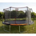 15' Trampoline 7 Legs / 7 Poles With Universal Basketball Hoop