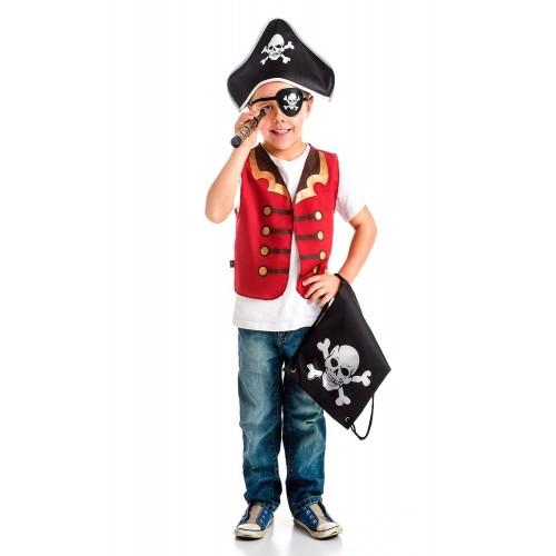 Little Adventure Drawstring Backpack Pirate Gift Set