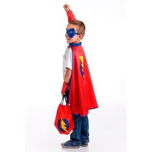 Little Adventure Drawstring Backpack Red Hero Gift Set