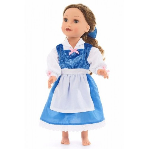 Little Adventure Doll Dress Beauty Day Dress with Hair Bow