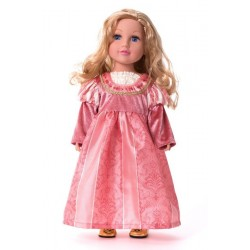 Little Adventure Doll Dress Coral Renaissance