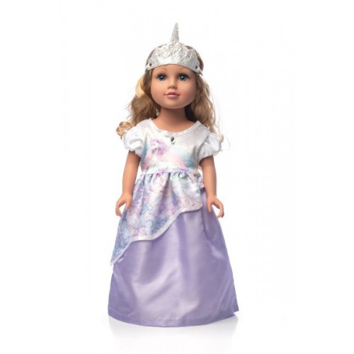 Little Adventure Doll Dress Unicorn Princess with Soft Crown