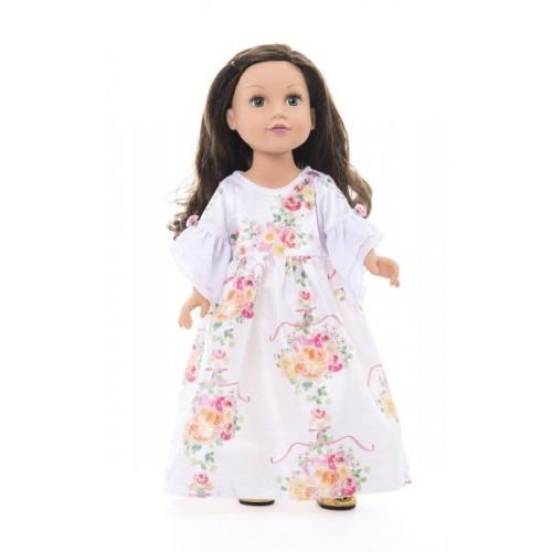 Little Adventure Doll Dress White Floral Beauty