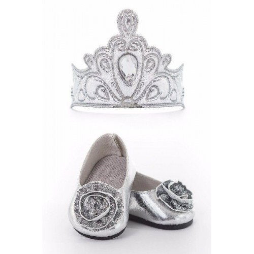 Little Adventure Doll Shoes and Tiara Silver