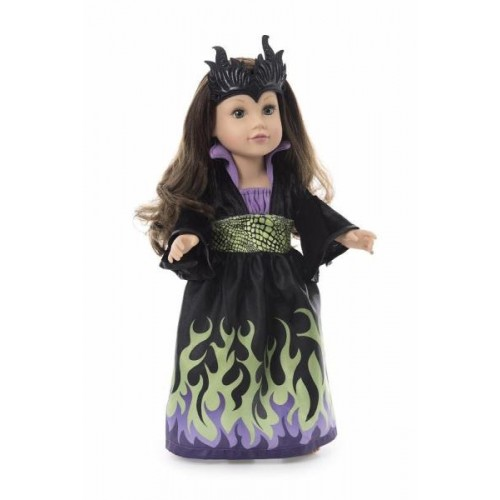 Little Adventure Dragon Queen Doll Dress with Soft Crown