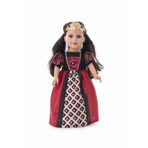 Little Adventure Queen of Hearts with Soft Crown Doll Dress