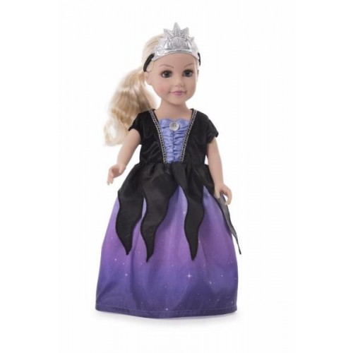 Little Adventure Sea Witch Doll Dress with Soft Crown