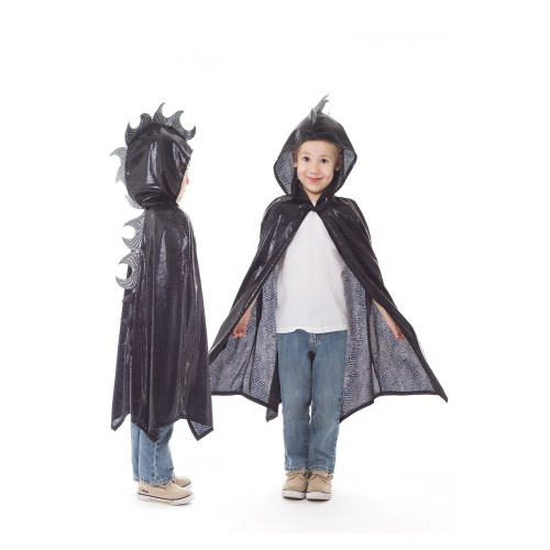 Little Adventure Dragon Cloak Black/Silver