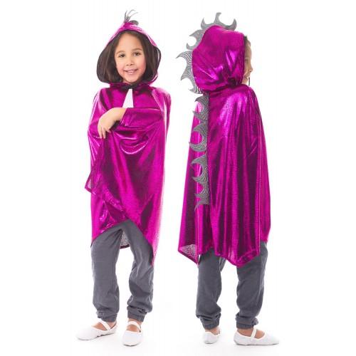 Little Adventure Dragon Cloak Magenta/Silver