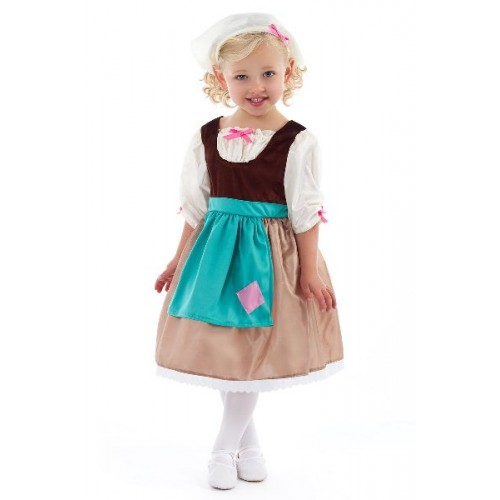 Little Adventures Cinderella Day Dress with Scarf