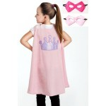 Little Adventure Pink Crown Cape & Mask Set