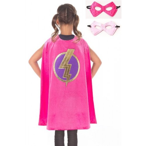 Little Adventure Pink Hero Cape & Mask Set