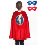 Little Adventure Red Hero Cape & Mask Set