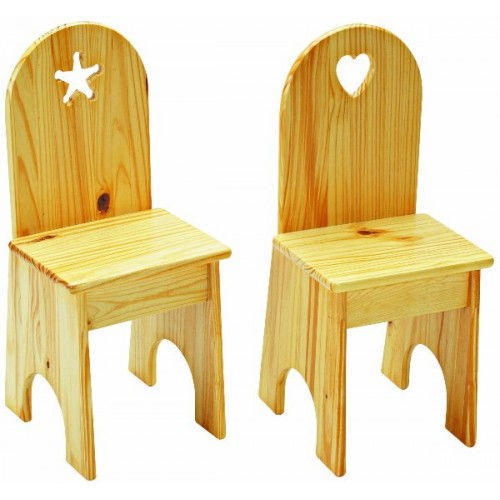 Solid Back Chairs (Set Of 2)